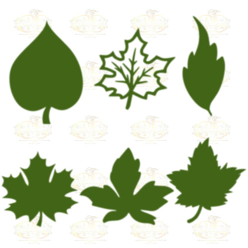 Set 19 Svg Png Dxf 6 different Leaves for Paper Flowers- MACHINE use Only