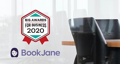 BookJane Named 2020 Winner in the BIG Award for Business