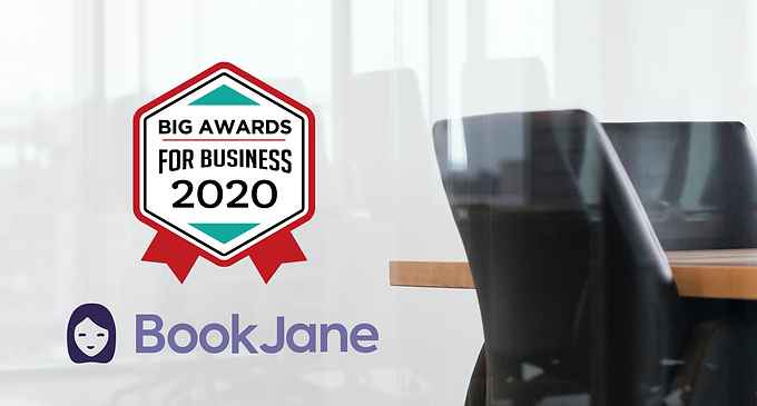 BookJane Named 2020 Winner in the BIG Award for Business