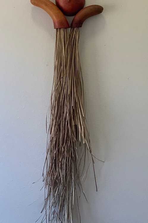 """Gourd and Lauhala wall art - 35""""x10"""""""