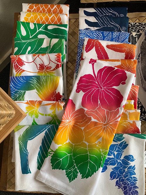 Hibiscus Tropical dish towels