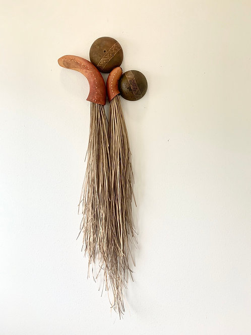 Gourd and Lauhala wall art