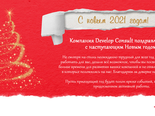 Develop Consult поздравляет вас с Новым 2021 годом! Develop Consult wishes you a Happy New Year!