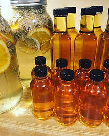A fresh batch of elderflower syrup is do