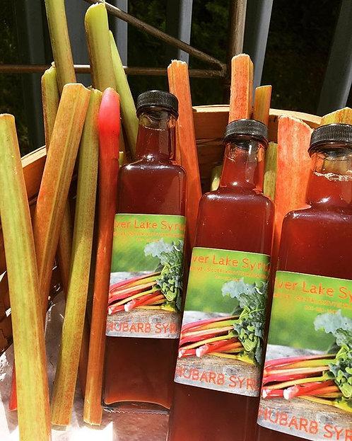 Rhubarb Syrup: 8.5 oz Glass Bottle