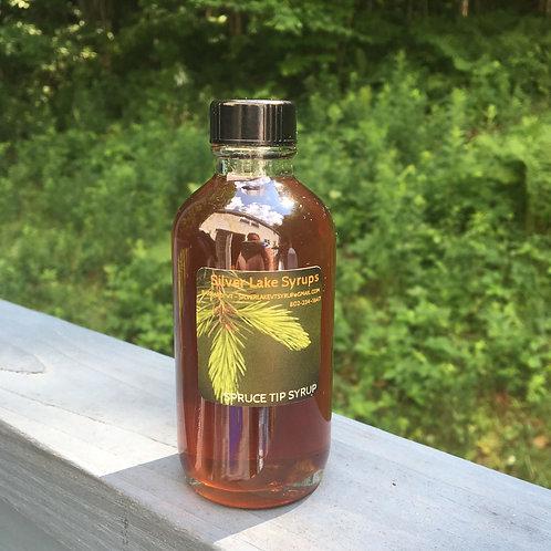 Caramelized Spruce Tip Syrup: 4oz Glass Bottle