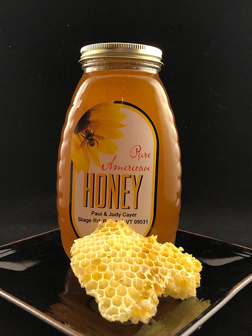 Raw Vermont Honey - 2 Lbs