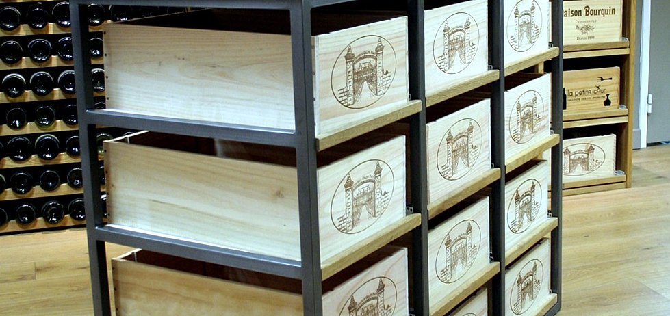 les casiers d 39 antan meuble pour ranger 12 caisses de vins. Black Bedroom Furniture Sets. Home Design Ideas