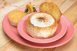 Clam Chowder in a bread bowl