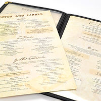Menu inserts for Vic's Cafe