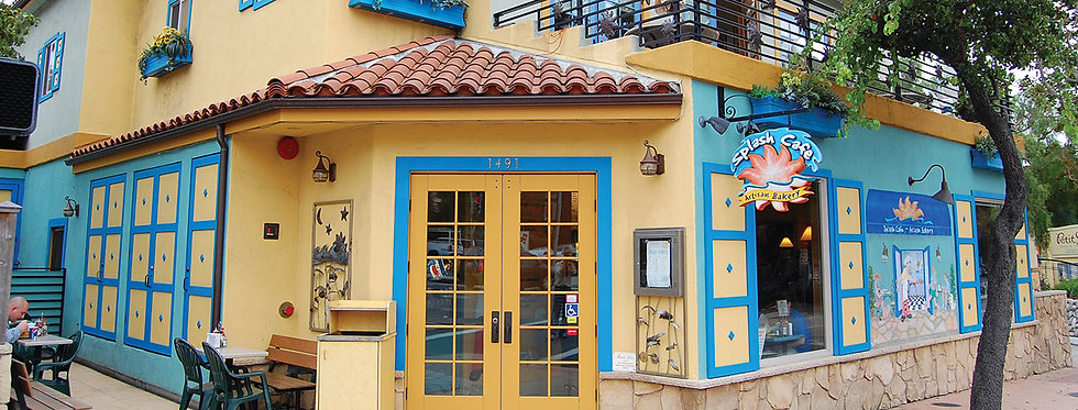 Main entrance of Splash Cafe Monterey Street in San Luis Obispo