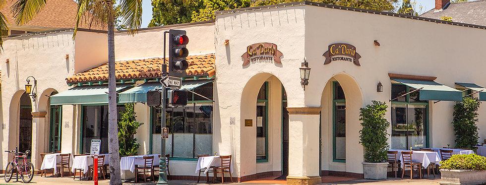Exterior of Ca'Dario Santa Barbara location