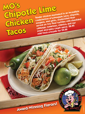 Mo's Chipotle Lime Chicken Tacos poster