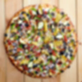 Overhead View of a Medium Size Garic Delight Pizza