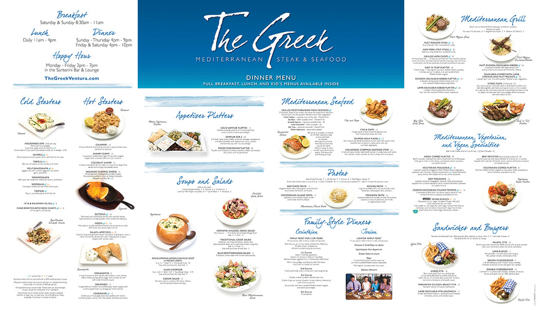 The Greek Display Menu