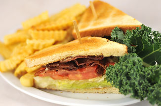 Bacon Lettuce Tomato sandwich with fries