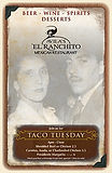 El Ranchito drinks menu cover