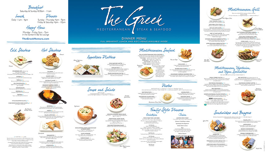 The Greek outdoor display menu board