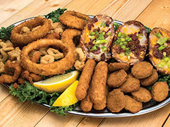 Pelican Platter, a variety of appetizers