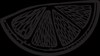 lemon wedge illustration