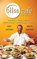 Bliss Cafe menu cover