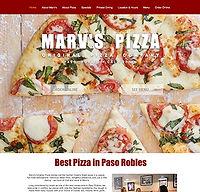 Screenshot of Marv's Pizza website