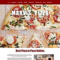 Screenshot of Marv's Pizza website