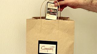 Putting a PocketMenu into a takeout bag