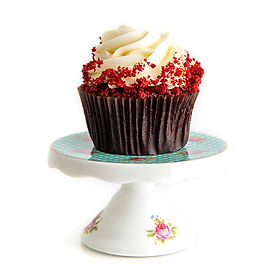 Red Velvet with Cream Cheese Icing Cupcake