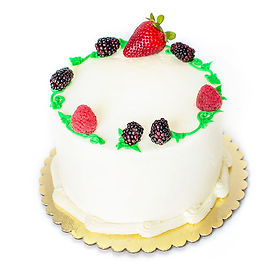 Triple Berries & Cream Cake