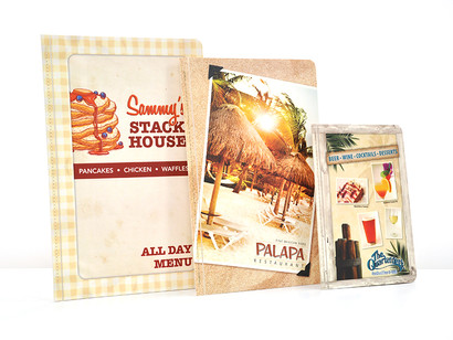 Sewn laminated menus
