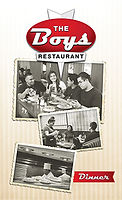 The Boys dinner menu cover