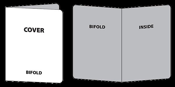 Wireframe of bifold house menu