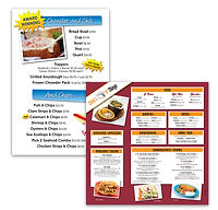 Splash Cafe and Chino's Tacos menu boards