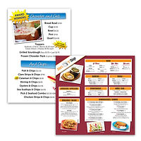 Menu boards for Splash Cafe and Chino's Tacos