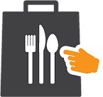 Restaurant to-go bag icon