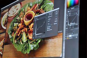 Photo editing for a restaurant menu