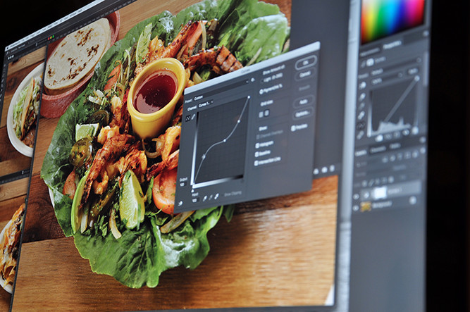 Photo editing for a restaurant menu