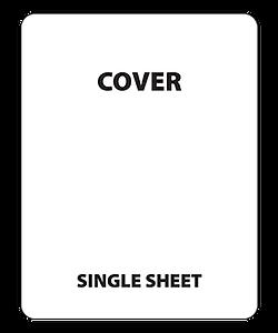 Wireframe of single sheet house menu