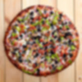 Overhead View of a Medium Size Vegetaria Pizza