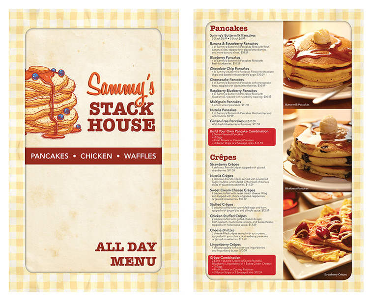 Sammy's Stack House menu