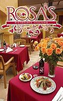 Rosa's menu cover
