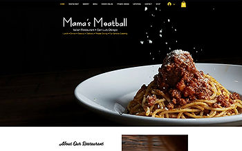 Screenshot of Mama's Meatball website