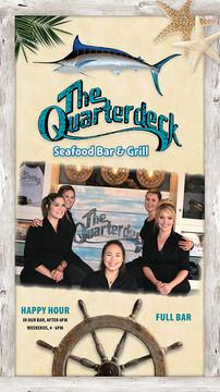Quarterdeck Seafood menu cover