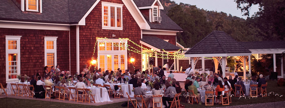 An elegant catering event at an outdoor venue
