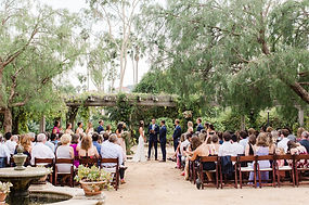 wedding ceremony at Santa Barbara Historical Museum Courtyard