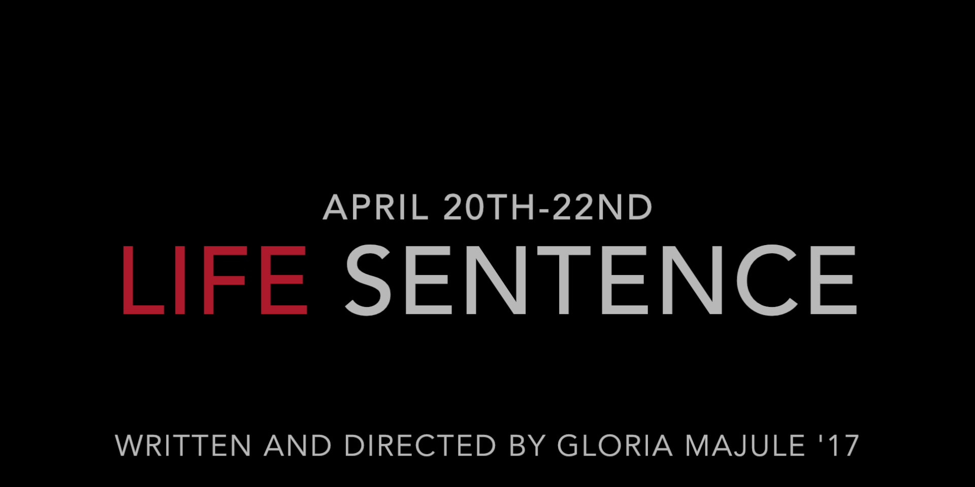 Life Sentence Official Trailer