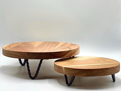 Elegant Wood Stand - 3 Sizes