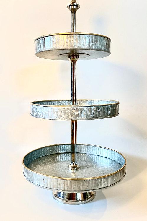 Galvanized Dessert Stands - 2 Sizes