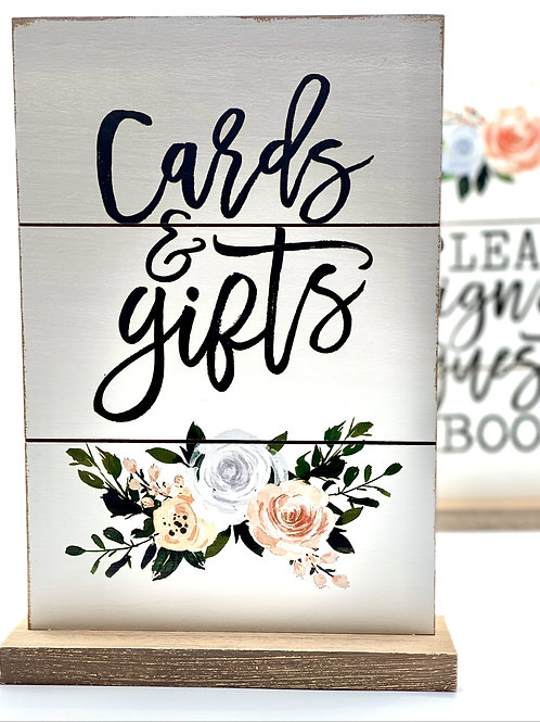 Floral Cards & Gifts Sign